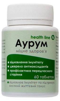 Диетическая добавка Аурум для укрепления иммунитета 60 табл., фото 2