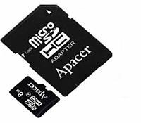 Карта памяти 8Gb microSD Apacer с адаптером class 10