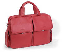 Портфель кожаный женский Sheff S5005 красный, черный