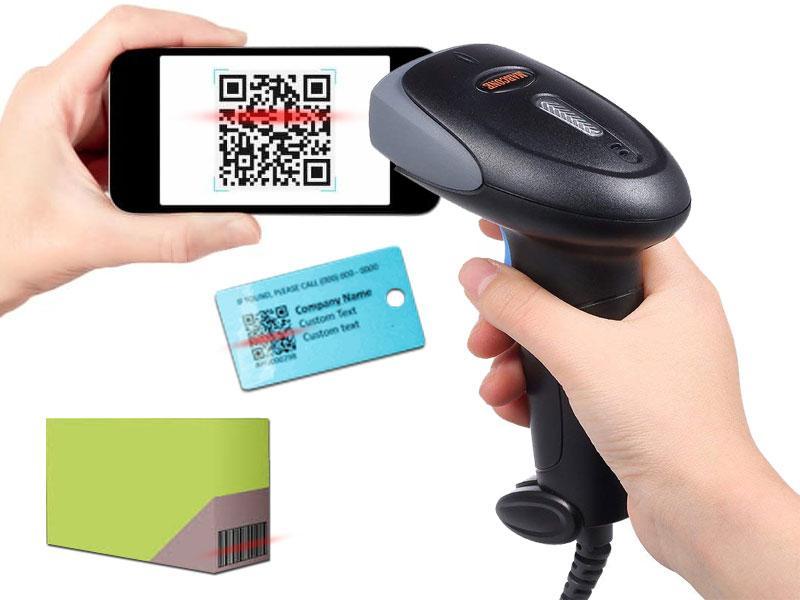 2D-сканер штрих-кодов для считывания QR-кодов с бумаги и экрана смартфона