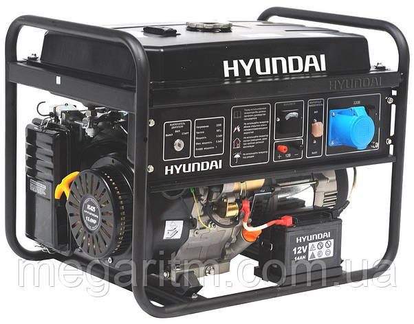 Бензиновый генератор Hyundai HHY 9010FE ATS, фото 2