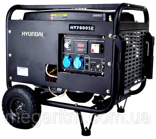 Генератор бензиновый Hyundai HY 7000SE, фото 2