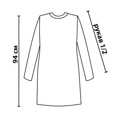 Размерная сетка на платье Карамелька