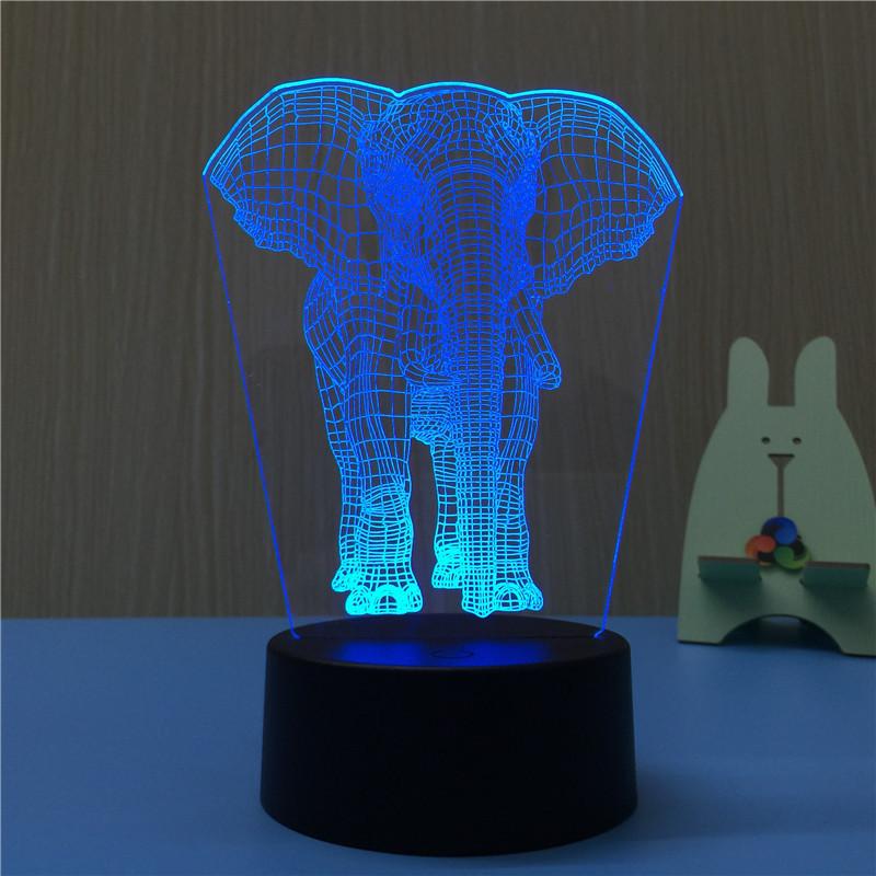 Змінна пластина на 3D світильник. Слоник