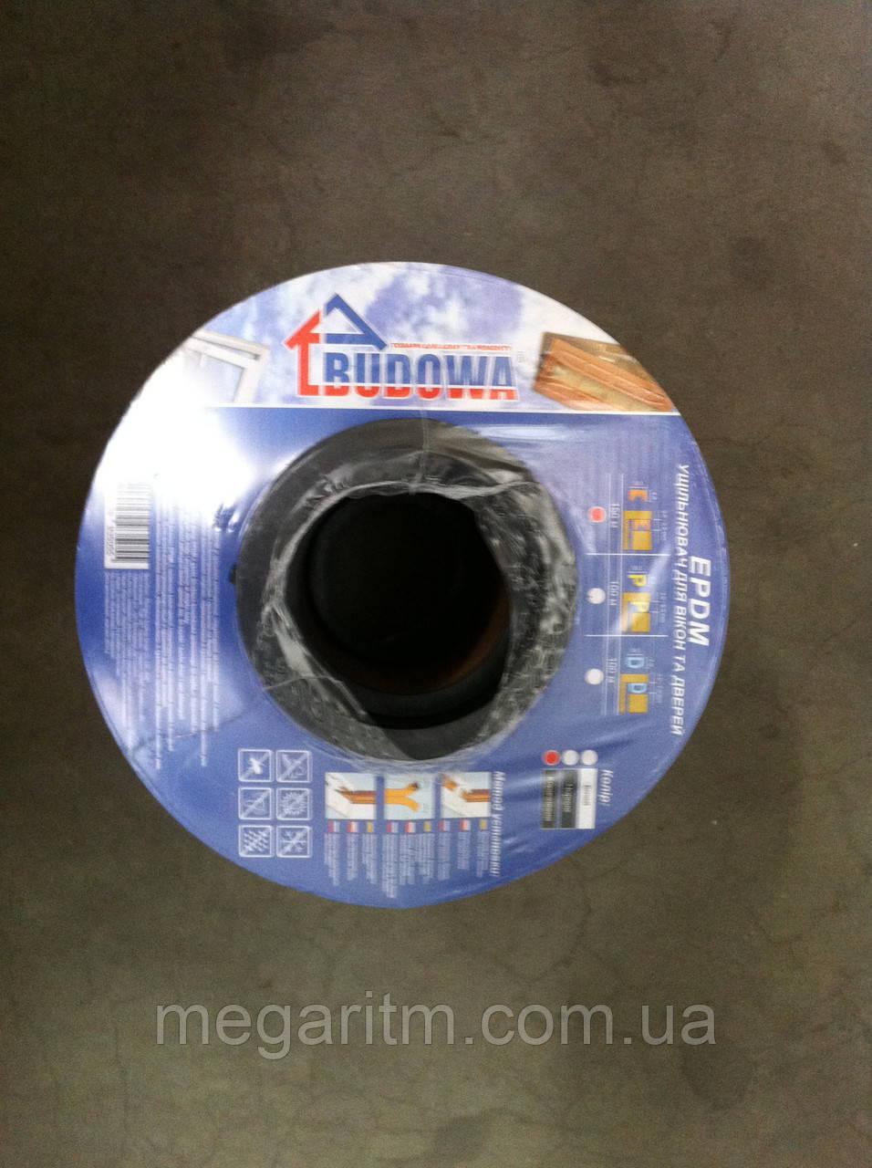 """Уплотнитель самоклеющийся """"Budowa""""                Е150 чёрный, 9*4 мм"""