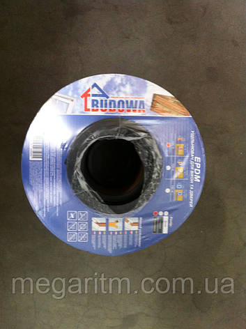 """Уплотнитель самоклеющийся """"Budowa""""                Е150 чёрный, 9*4 мм, фото 2"""