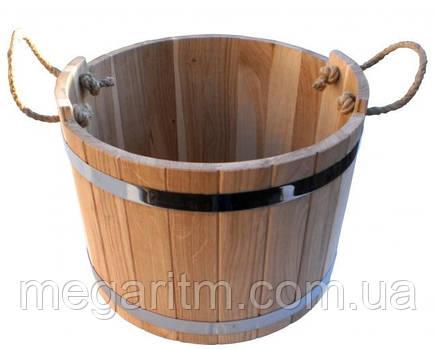 Шайка дубовая для бани и сауны 7 литров, фото 2