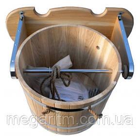 Ведро-Водопад из дуба 25 литров, фото 2