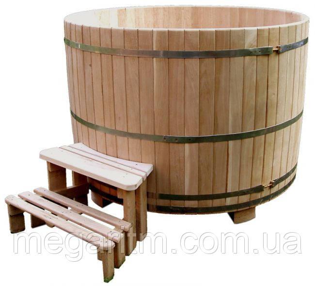 Купель круглая 1400 литров дуб, термоясень, ель европейская, термососна Украина