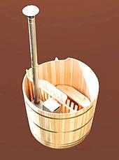 Офуро (японская баня) из ДУБА – серия СТАНДАРТ ПЛЮС  толщина стенки 30-33 м; высота 105 см., фото 3