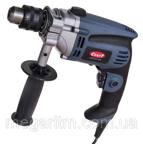 Дрель электрическая ударная Craft CPD 13/1100, фото 2