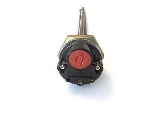 Тэн с терморегулятором для чугунной батареи 1000W / Италия / Правая резьба, фото 2