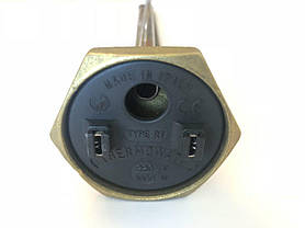 Тэн для чугунной батареи 1000W / Италия / Левая резьба, фото 2