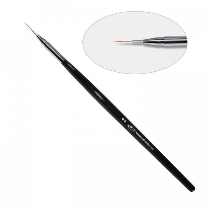 7D. Кисть для дизайна круглая 0-s PNB, нейлон / Nail Art Brush