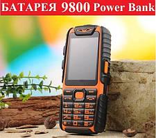 Защищенный кнопочный телефон Land Rover A6 Extra, батарея 9800 mAh + Power Bank бюджетный ленд ровер