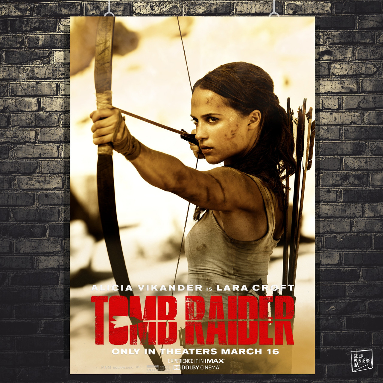 Постер Tomb Raider, Лара Крофт, Томб Райдер. Размер 60x42см (A2). Глянцевая бумага