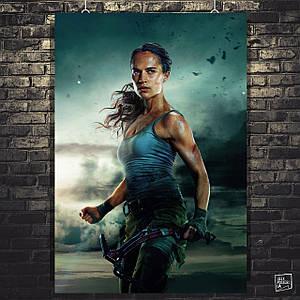 Постер Tomb Raider, Лара Крофт, Томб Райдер. Розмір 60х44см (A2). Глянцевий папір