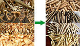 Пресс-брикетировщик ударно-механического типа для производства брикетов из соломы, фото 5