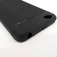 Защитный карбоновый чехол Polished Carbon для Xiaomi Redmi 4a (чёрный)