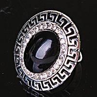 """Кольцо Агат оправа """"греческая"""" 2,8*2,4см овальный камень без р-р"""