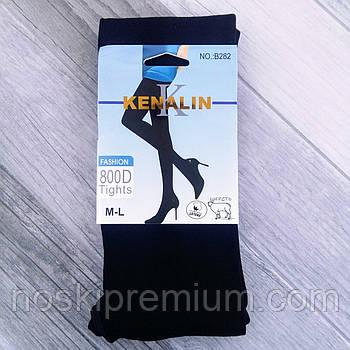 Колготки жіночі бавовна на байку Kenalin, розмір M-L, чорні, 282