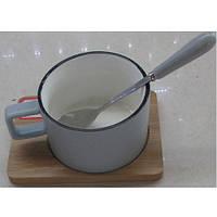 """Чашка з підставкою і ложкою """"Village"""" 7.5 * 5 см"""