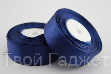 ОПТ/Розница Лента атласная 25мм (темно-синяя, #120)