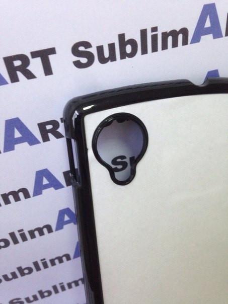 Чехол для 2D сублимации пластиковый на LG Google Nexus 5 черный