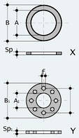 Прокладка для буртов и фланцев (QHV/X и QHV/Y)