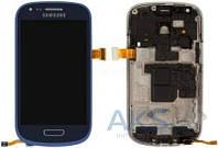Дисплей (экран) для телефона Samsung Galaxy S3 mini I8190 + Touchscreen with frame Original Blue