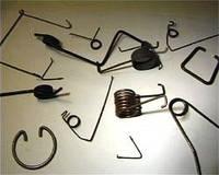 Скобы, кольца пружинные стопорные, изготовление
