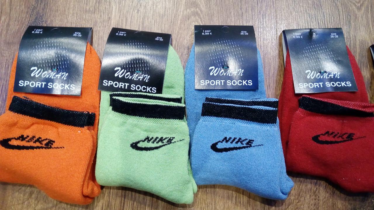 "Носки женские махровые в стиле""Nike SS"""