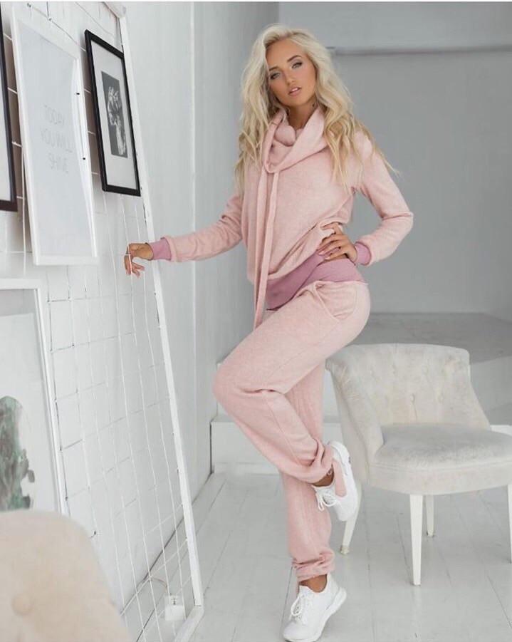 5a246bda Нежно-розовый женский теплый спортивный костюм батал из ангоры. Арт-  7408/80, цена 660 грн., купить в Одессе — Prom.ua (ID#794816848)