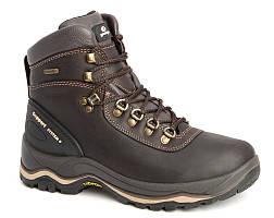 Термо ботинки кожаные, мужские Graninge 7052 Италия,  гриспорт, непромокаемые, зимние