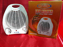 """Тепловой вентилятор """"Crown"""" 2000 Вт. электрический. (дуйчик)."""