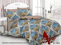 Комплект полуторного постельного белья люкс сатин с компаньоном S163 ТМ TAG