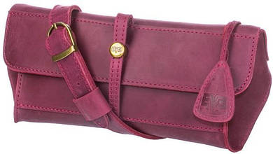 Поясная сумка, натуральная кожа, Level Стандарт-burgundy, женская, розовый
