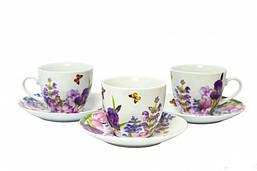 Набор чайный Пурпурные цветы Keramia 24-198-003 12 предметов