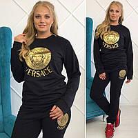 Спортивный женский костюм Versace батал (бло) костюмы бренды женские, фото 1
