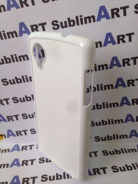 Чехол для 2D сублимации пластиковый на LG Google Nexus 5 белый
