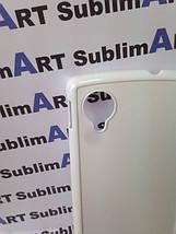 Чехол для 2D сублимации пластиковый на LG Google Nexus 5 белый, фото 3