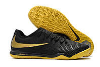 Футзалки (бампы) Nike Zoom Hypervenom PhantomX III PRO IC Black/Metallic Vivid Gold, фото 1