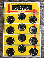 Кнопки пришивные черные (12 шт.) , диаметр 20 мм