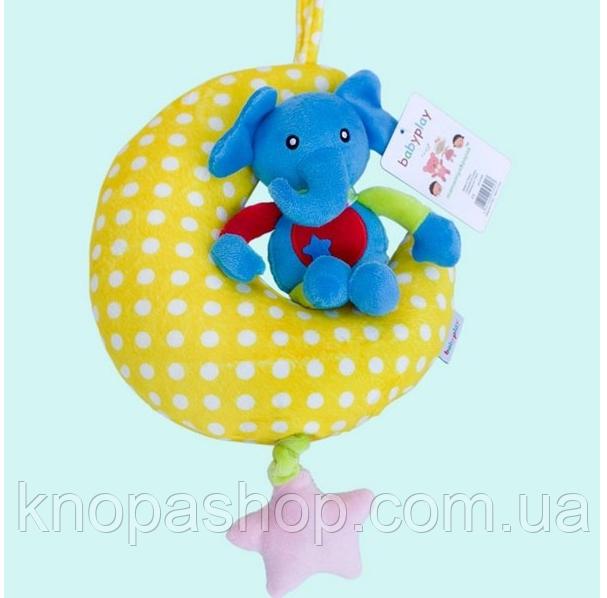 Слон на луне подвеска от Baby Play   Mamamiya & Papas.