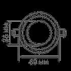 Точечный светильник Maxus 3W теплый свет (1-SDL-010-01), фото 4