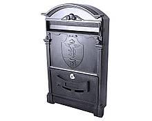 Поштова скринька Vita колір чорний Герб Лев