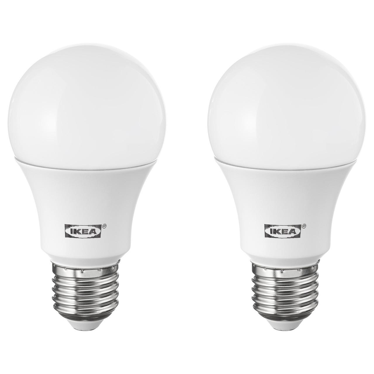 Светодиодная лампа IKEA RYET E27 1000 люмен шарообразная белая 003.632.65