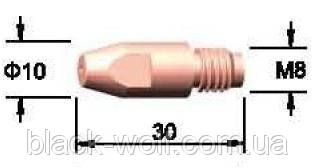 Наконечник токоподводящий М8х0,8х30 E-CU BW 140.0114 для п/а сварки