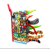 Хвосты животных тропических лесов. Мягкие книги из серии  хвосты. Jollybaby.  Rainforest Tails
