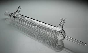 Холодильник (Димрота) спиральный обратный с внутренним охлаждением со шлифами 300 мм, стекло, фото 2